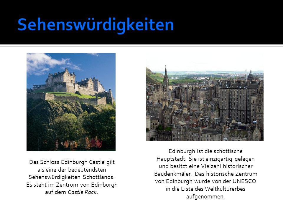 Das Schloss Edinburgh Castle gilt als eine der bedeutendsten Sehenswürdigkeiten Schottlands. Es steht im Zentrum von Edinburgh auf dem Castle Rock. Ed