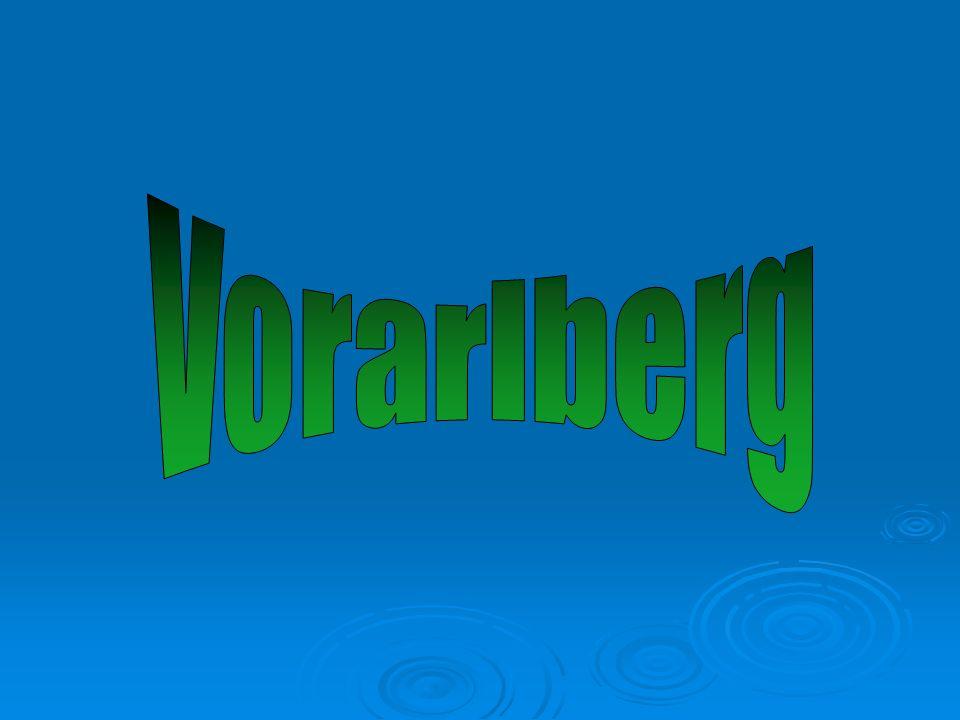 Les informations générales sur le Vorarlberg  Einwohner 366714, (La population)  Hauptstadt Bregenz, (La capitale)  Fläche 2.601,48 km², (La superficie)  Wichtige Städte: Bregenz, Dornbirn, Feldkirch, Bludenz, Hohenems, (Des villes importantes)  Typisch mitteleuropäisches Klima, (Le climat)