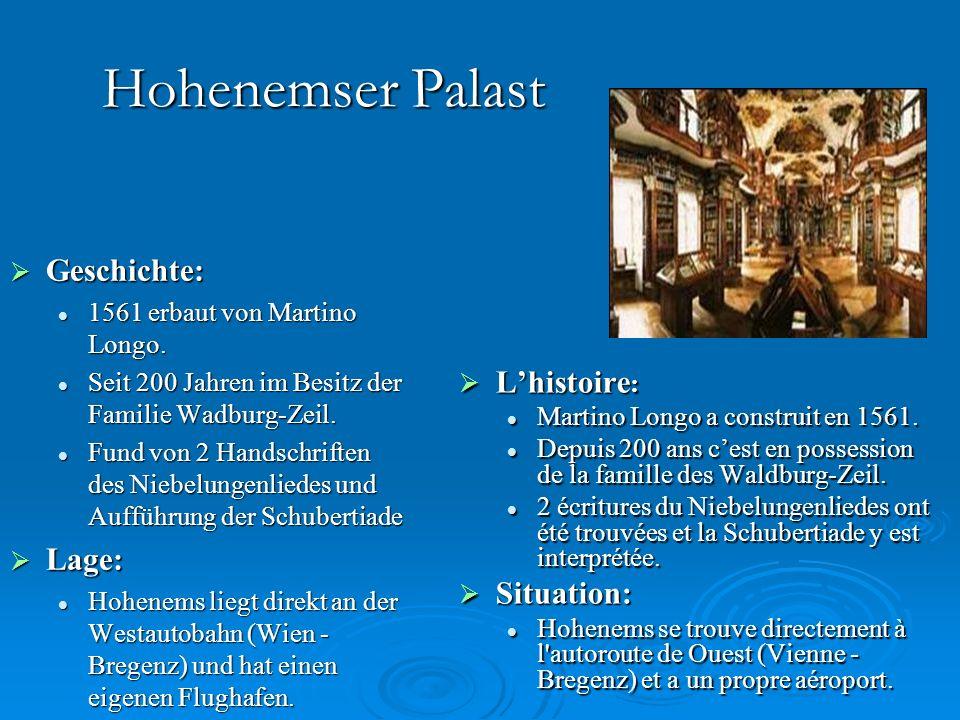 Hohenemser Palast GGGGeschichte: 1561 erbaut von Martino Longo.
