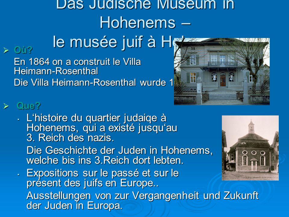 Das Jüdische Museum in Hohenems – le musée juif à Hohenems  Où.