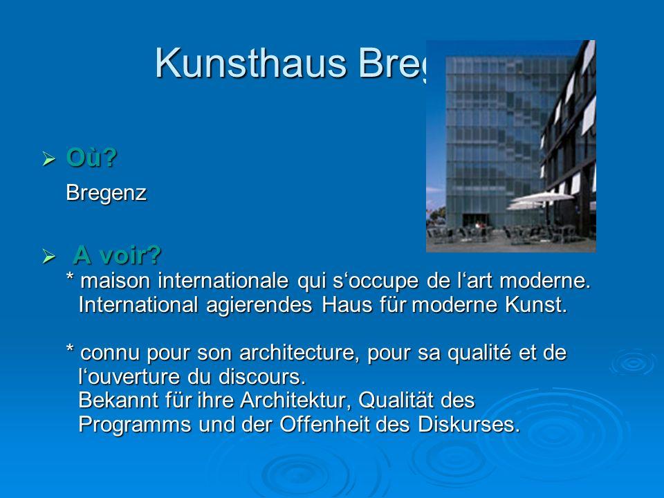 Kunsthaus Bregenz  Où.Bregenz  A voir. * maison internationale qui s'occupe de l'art moderne.