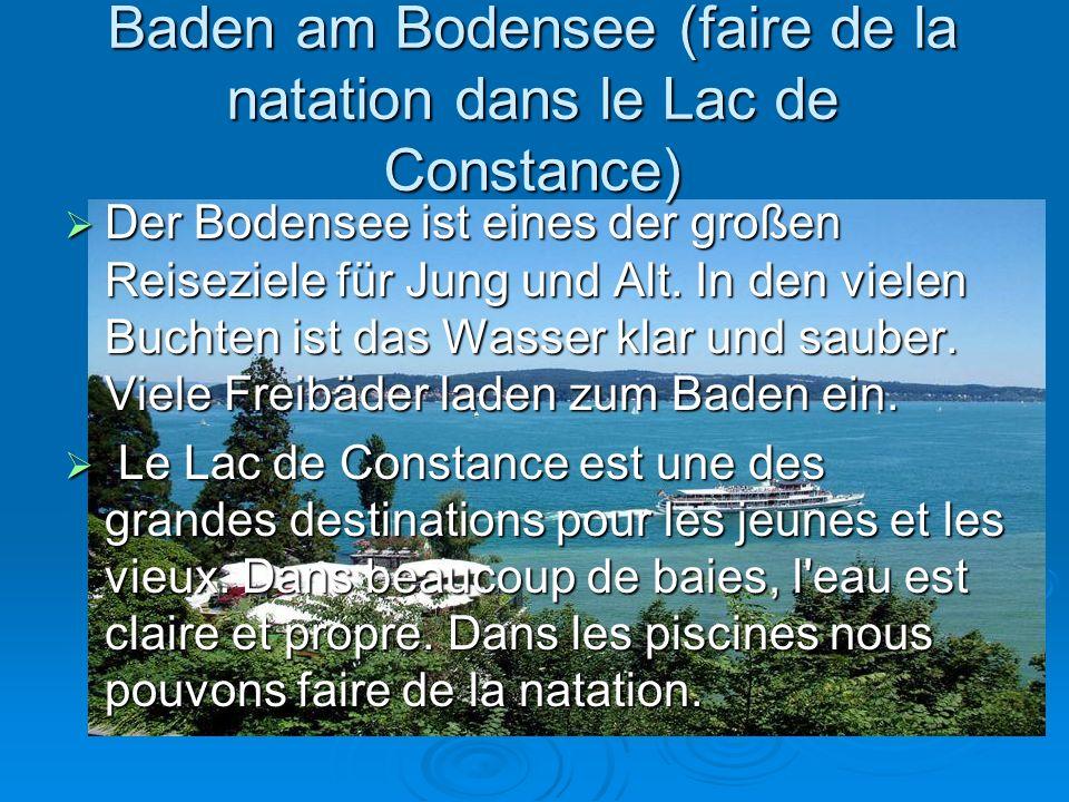 Baden am Bodensee (faire de la natation dans le Lac de Constance)  Der Bodensee ist eines der großen Reiseziele für Jung und Alt.