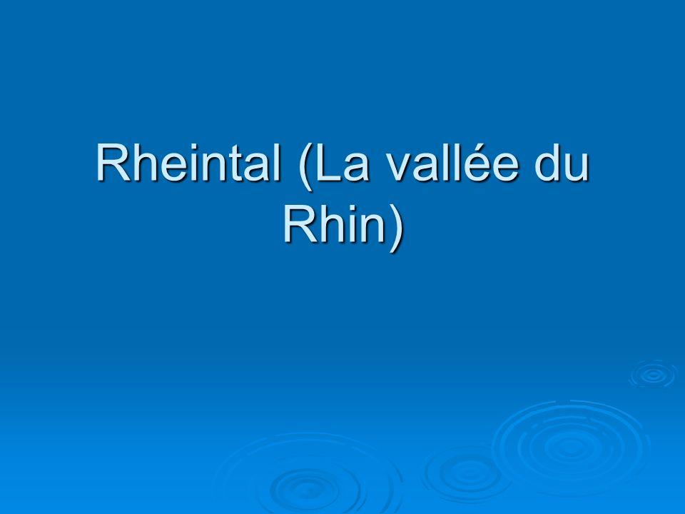 Rheintal (La vallée du Rhin)