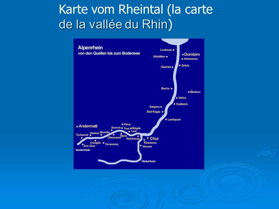 de la vallée du Rhin Karte vom Rheintal (la carte de la vallée du Rhin )
