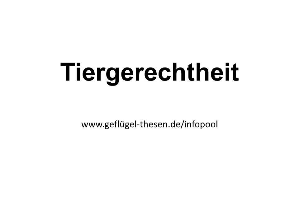 Tiergerechtheit www.geflügel-thesen.de/infopool