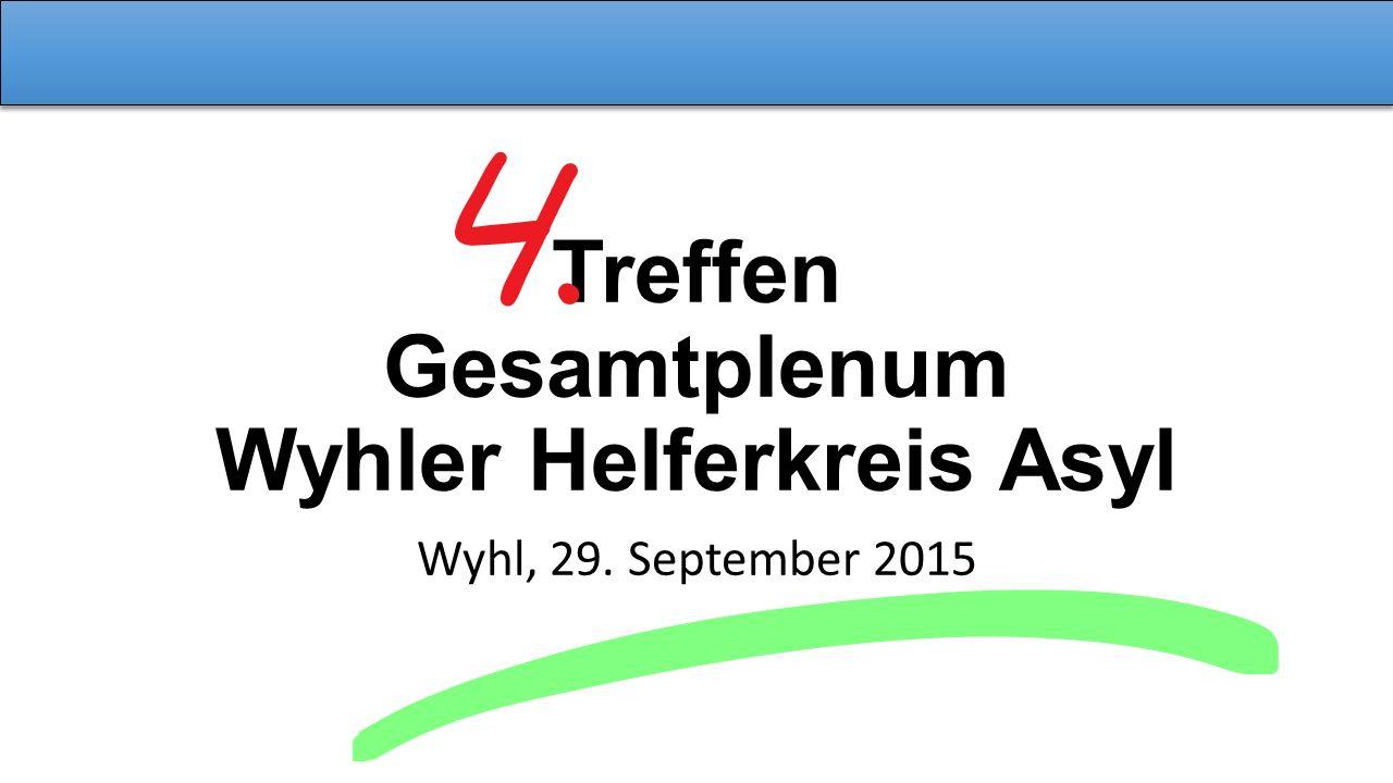 Treffen Gesamtplenum Wyhler Helferkreis Asyl Wyhl, 29. September 2015