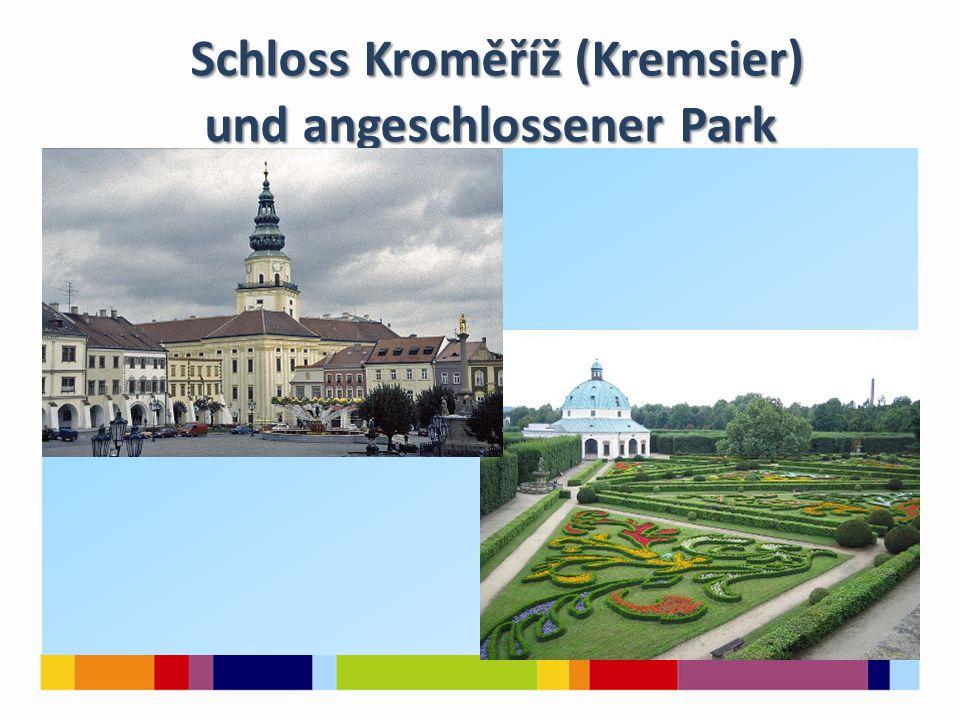 Schloss Kroměříž (Kremsier) und angeschlossener Park