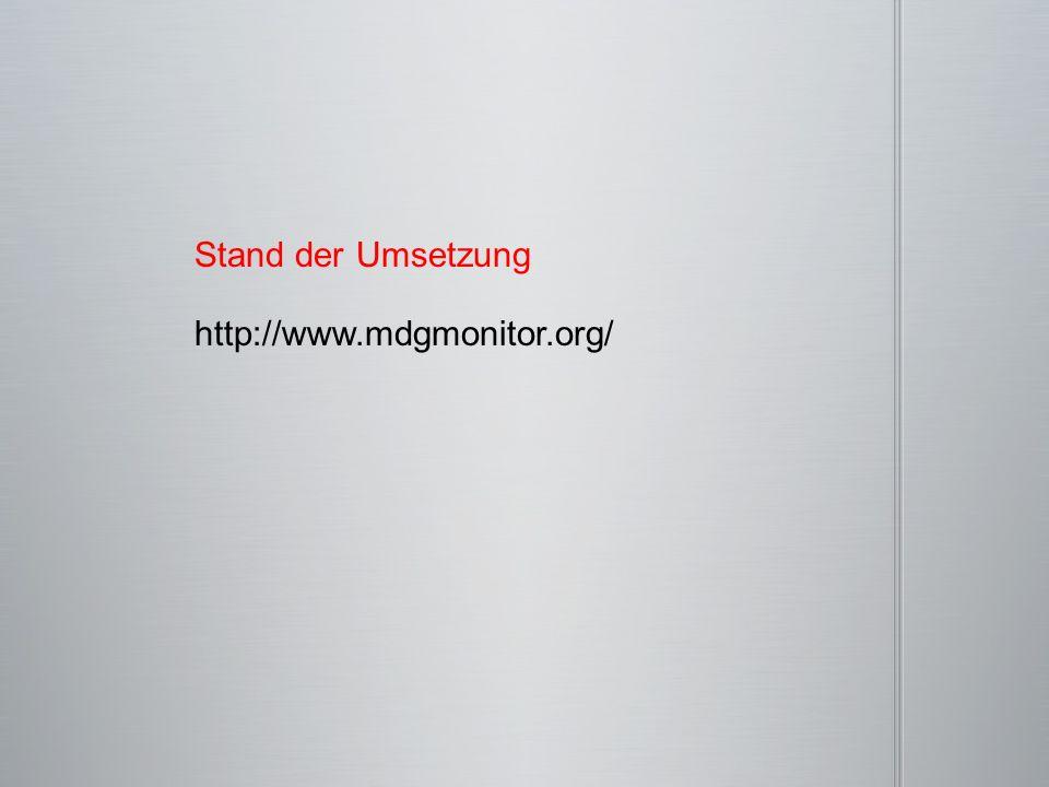 http://www.mdgmonitor.org/ Stand der Umsetzung