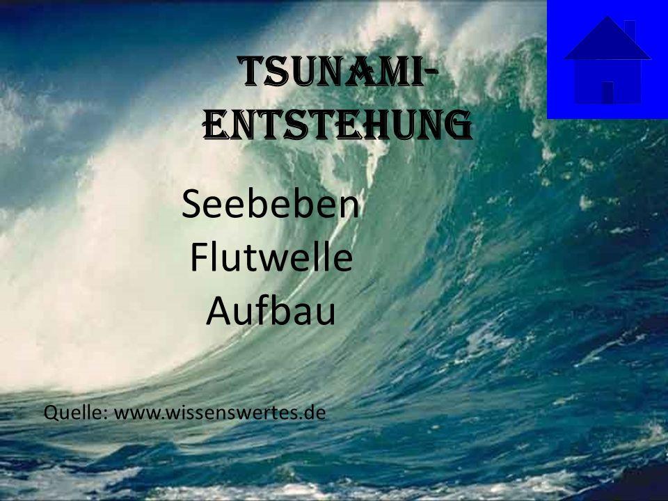 Tsunami- Entstehung Seebeben Flutwelle Aufbau Quelle: www.wissenswertes.de