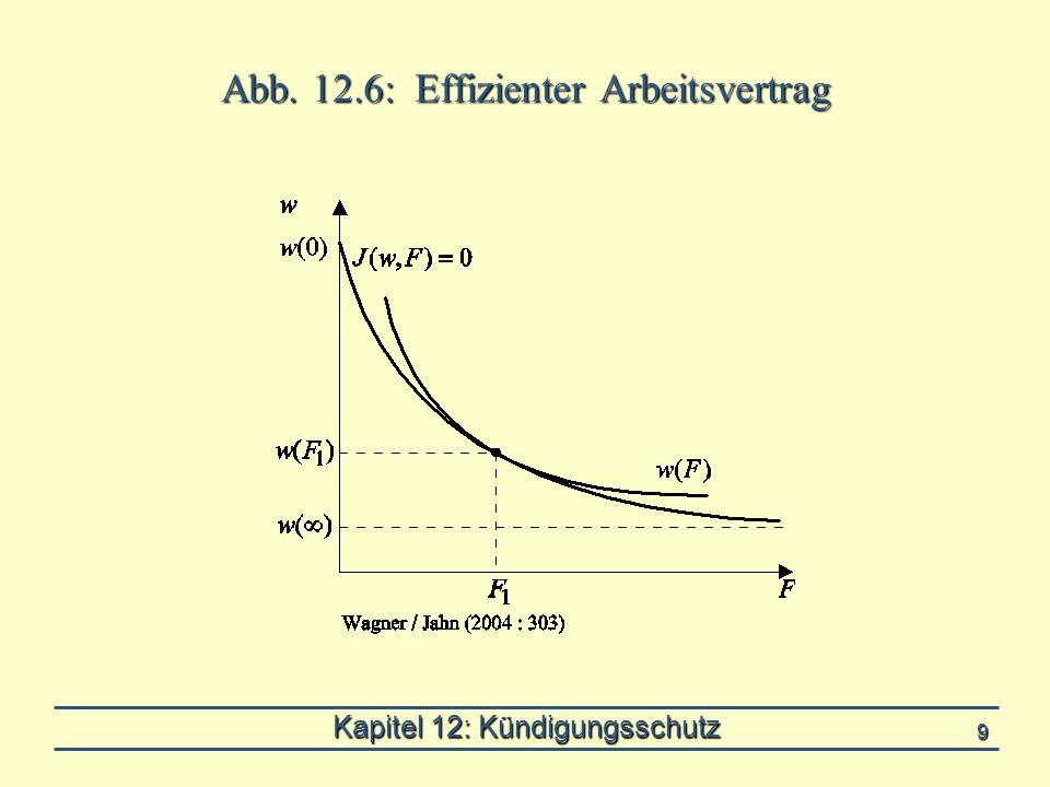Kapitel 12: Kündigungsschutz 9 Abb. 12.6: Effizienter Arbeitsvertrag