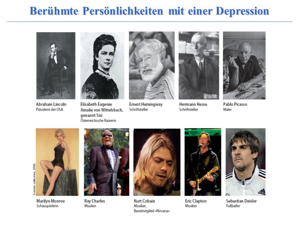 Berühmte Persönlichkeiten mit einer Depression