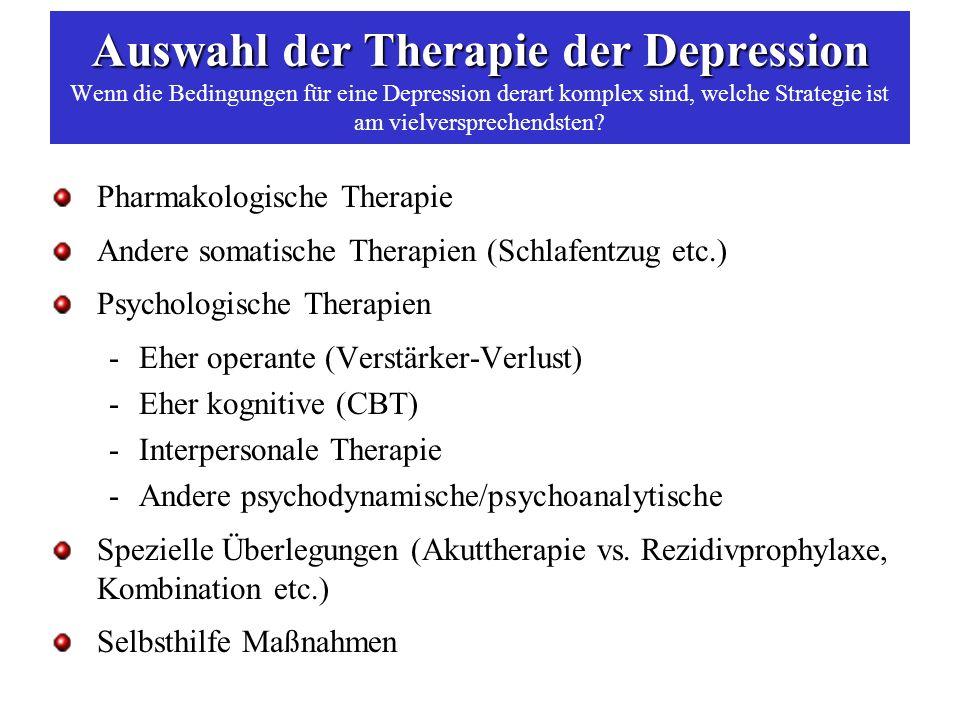 Response and Remission – Phasen der Behandlung depressiver Störungen Kupfer DJ.