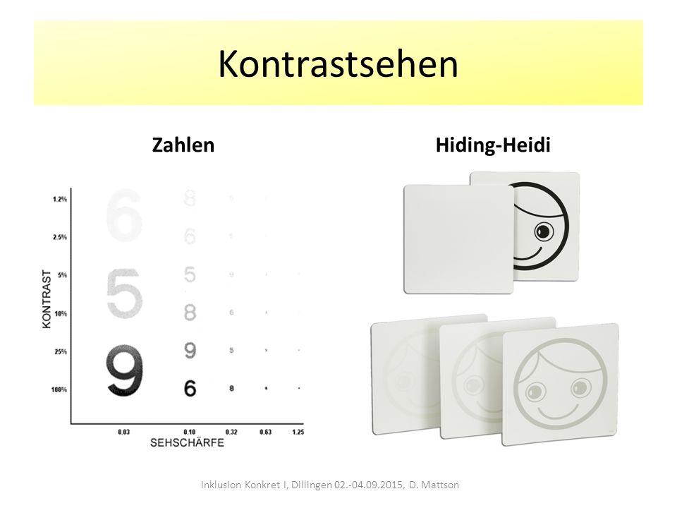 Kontrastsehen ZahlenHiding-Heidi Inklusion Konkret I, Dillingen 02.-04.09.2015, D. Mattson