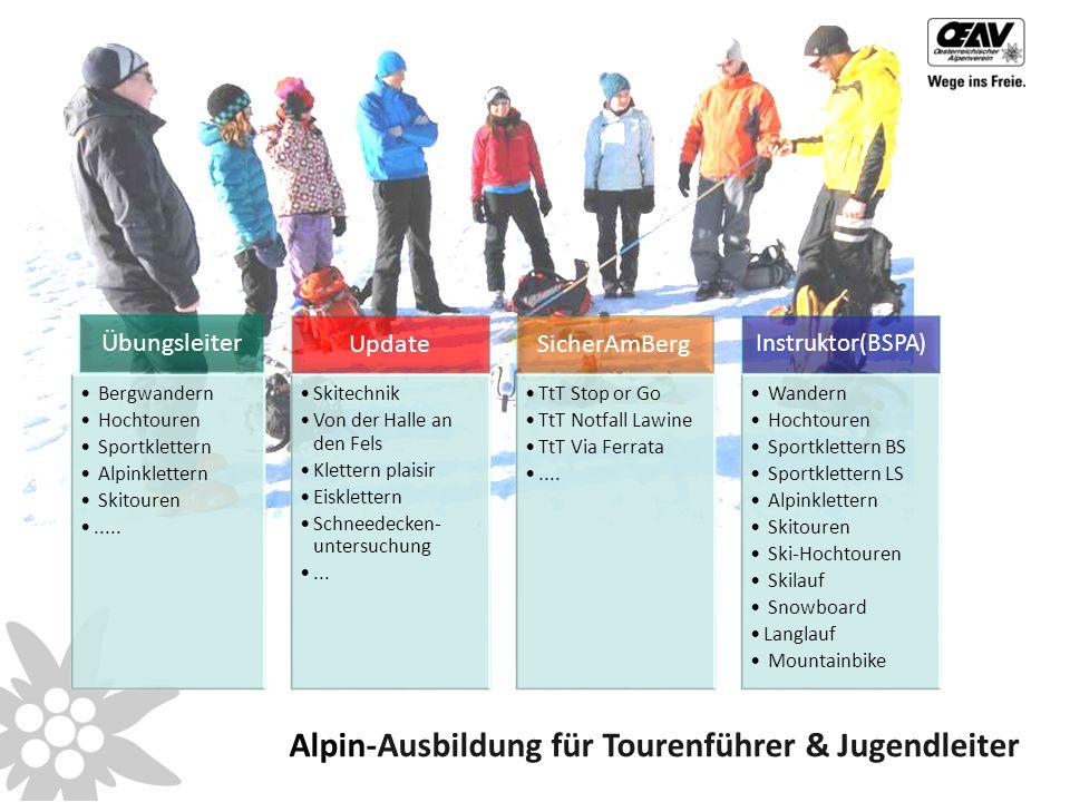 Übungsleiter Bergwandern Hochtouren Sportklettern Alpinklettern Skitouren.....