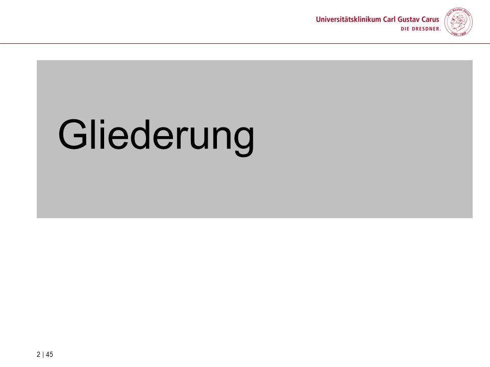 1.Besonderheiten am Standort Dresden 2.Der Geschäftsbereich Logistik und Einkauf und seine Abteilungen 3.Die UKD Service GmbH 4.Das Versorgungszentrum 3 | 45