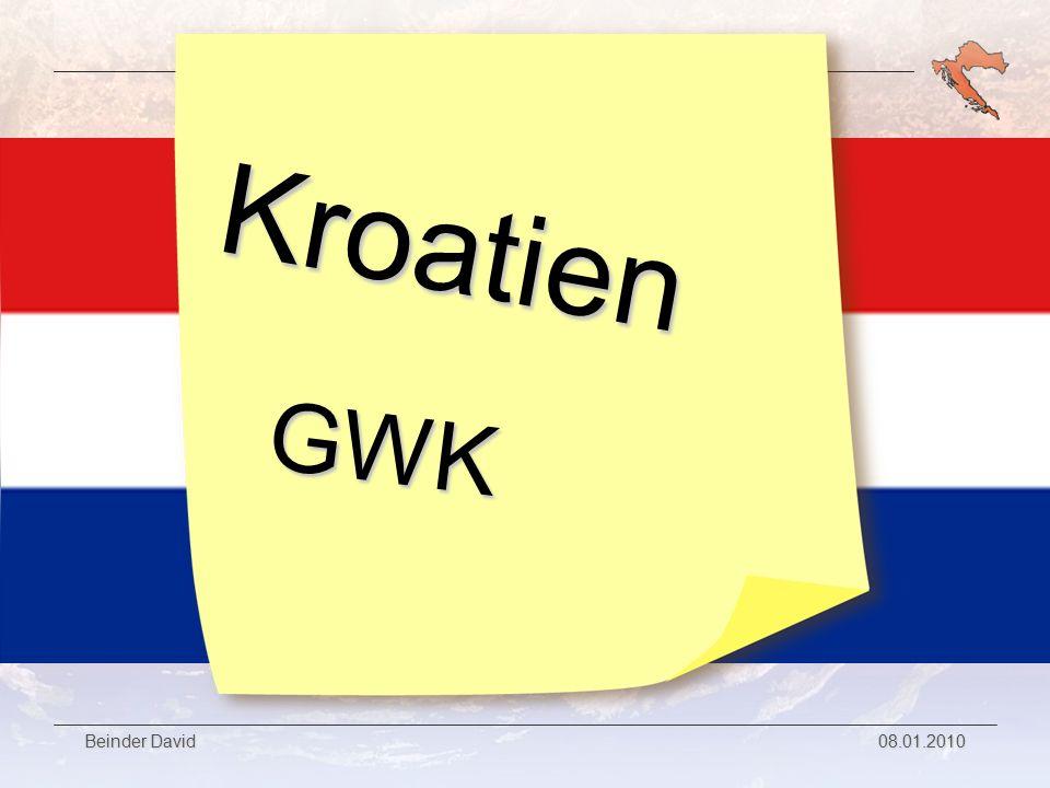 GWK Referat Kroatien Beinder David 08.01.2010 Die 2 größten Inseln Krk ist mit 405,2km² nur wenig kleiner als Cres Auf Krk leben rund 17.000 Menschen Die größte Stadt auf Krk heißt ebenfalls wie die Insel selbst.