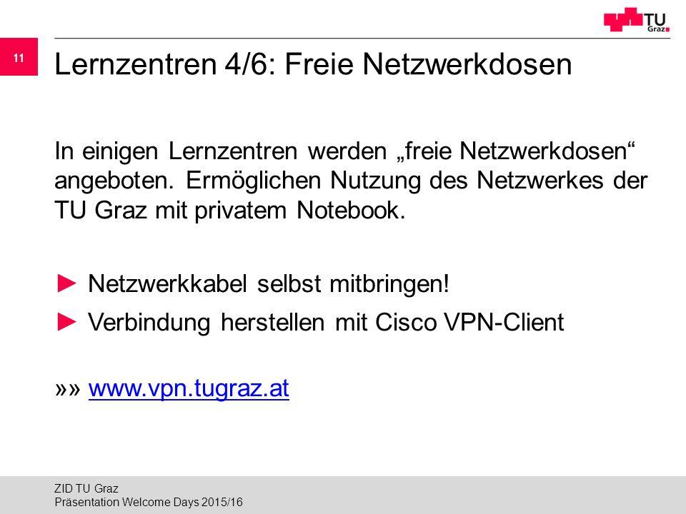 """11 Lernzentren 4/6: Freie Netzwerkdosen In einigen Lernzentren werden """"freie Netzwerkdosen angeboten."""