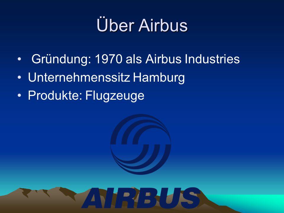 Über Airbus Gründung: 1970 als Airbus Industries Unternehmenssitz Hamburg Produkte: Flugzeuge