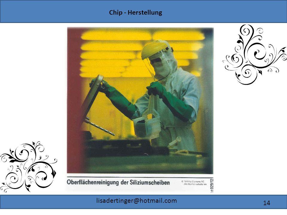 Chip - Herstellung lisadertinger@hotmail.com 14
