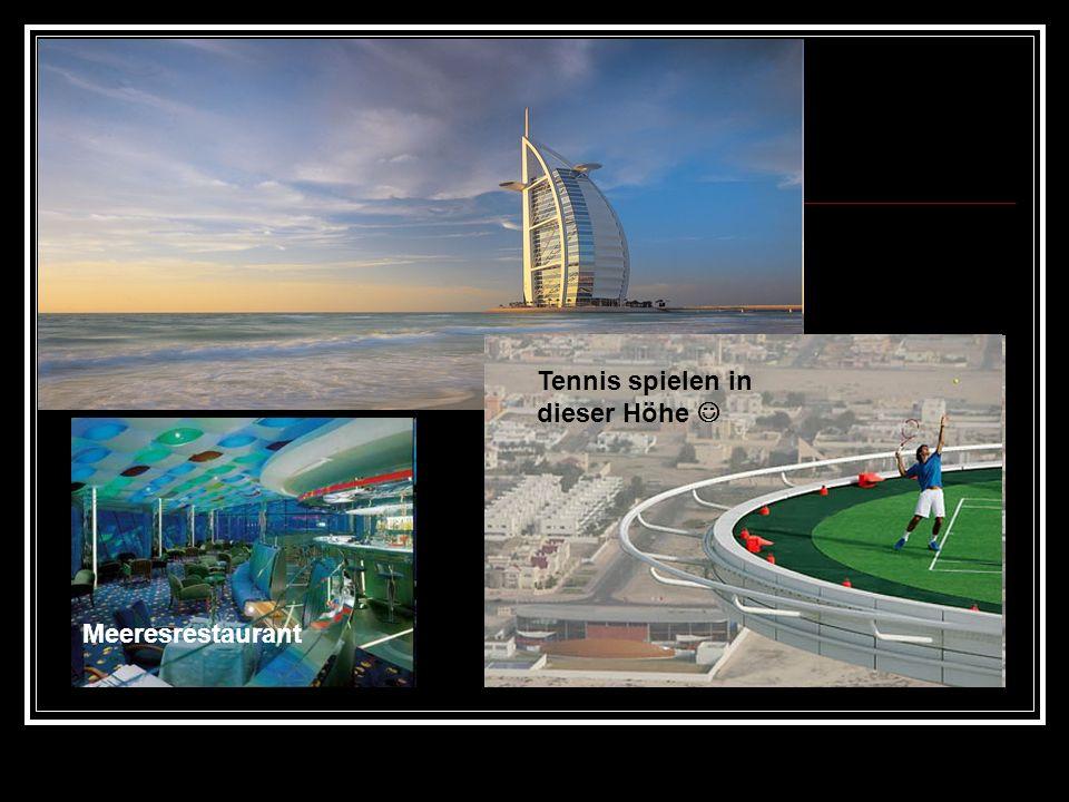 Tennis spielen in dieser Höhe Meeresrestaurant
