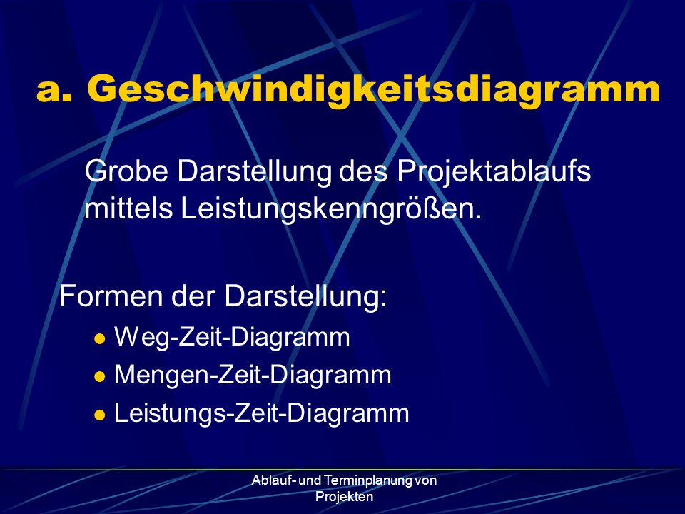 Ablauf- und Terminplanung von Projekten 4.Ermittlung der Vorgangsdauern bzw.