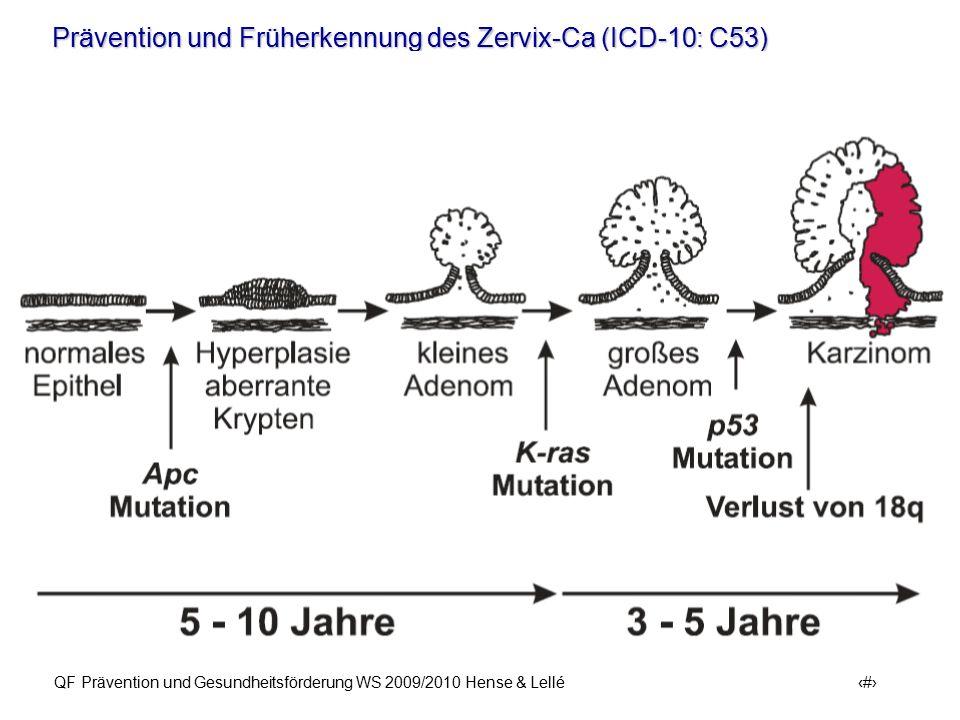 Prävention und Früherkennung des Zervix-Ca (ICD-10: C53) QF Prävention und Gesundheitsförderung WS 2009/2010 Hense & Lellé 3