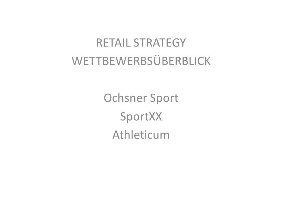 RETAIL STRATEGY WETTBEWERBSÜBERBLICK Ochsner Sport SportXX Athleticum
