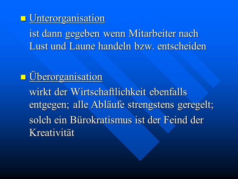 Organisationsprinzipien Substitutionsprinzip Substitutionsprinzip gleichartige, sich wiederholende Abläufe generell zu regeln sind Delegationsprinzip