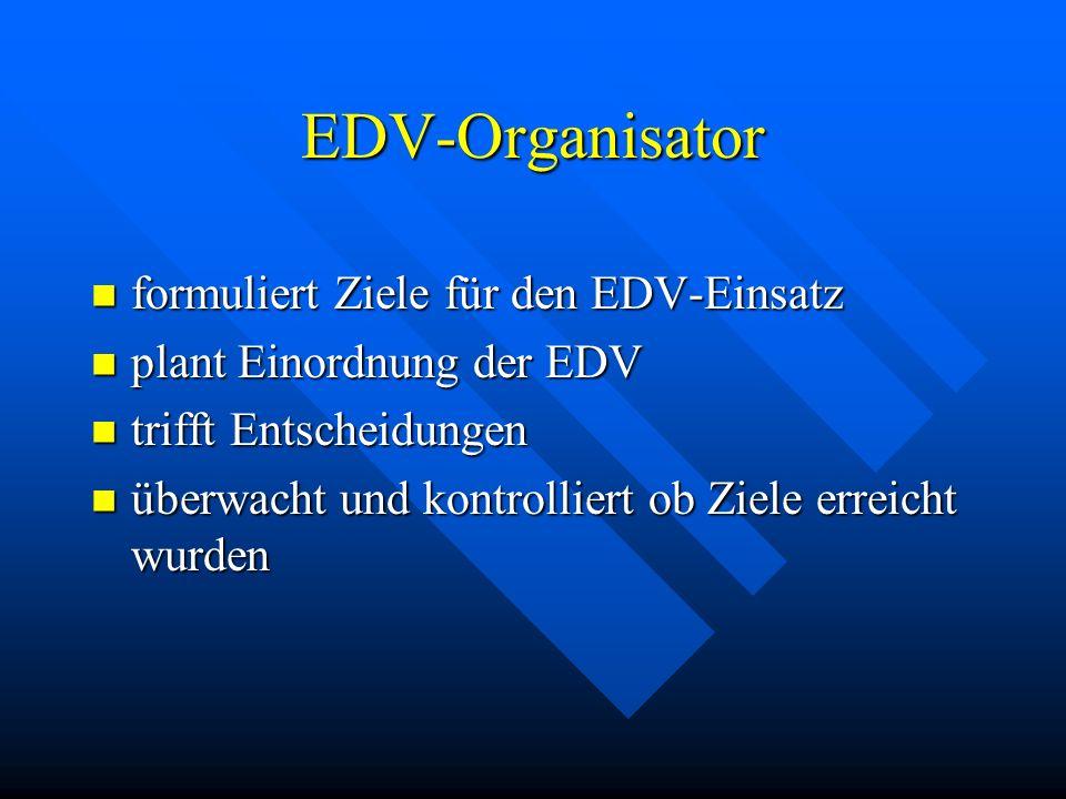 Management Funktionen Zielsetzung (zB Rationalisierung) Zielsetzung (zB Rationalisierung) Planung (zB Einsatz einer EDV-Anlage) Planung (zB Einsatz ei