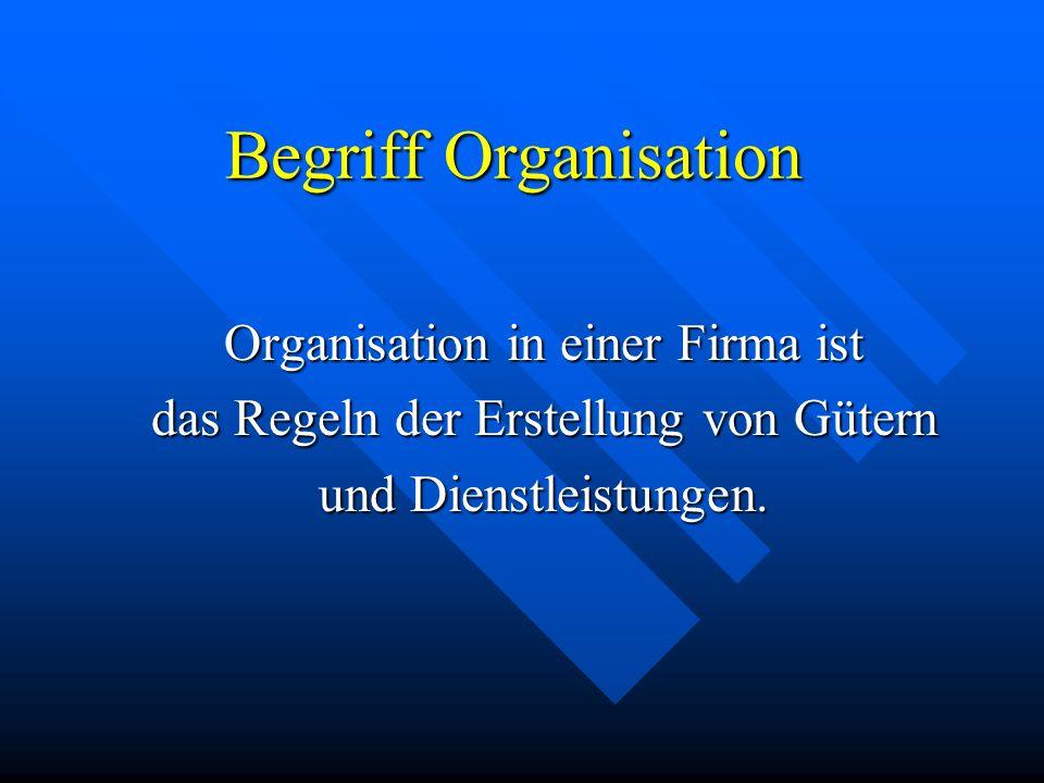 Organisatorisches Gleichgwicht angestrebt wird eine Mitte zwischen den beiden Organisationen.