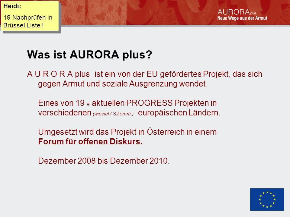 Was ist AURORA plus.