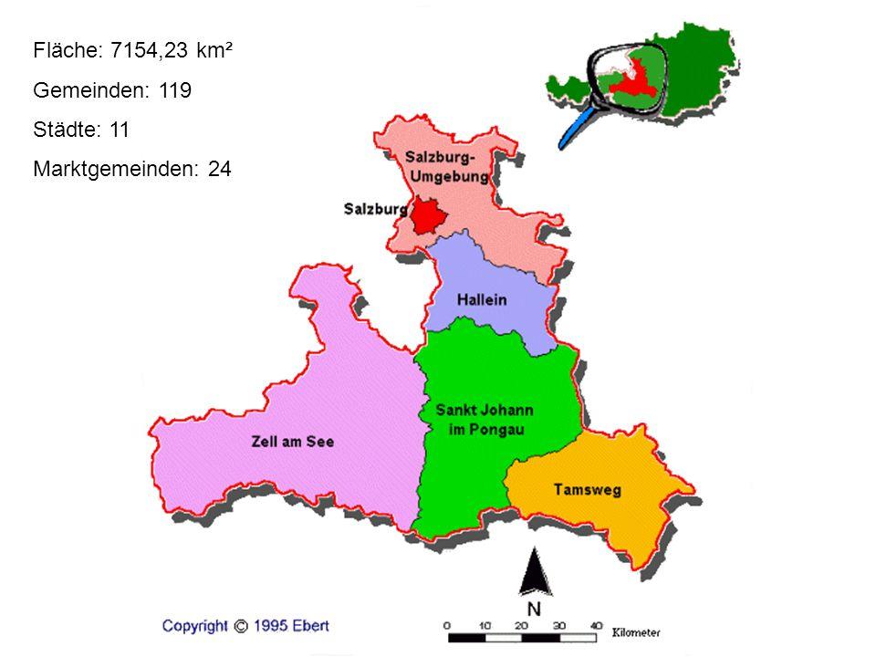 Fläche: 7154,23 km² Gemeinden: 119 Städte: 11 Marktgemeinden: 24
