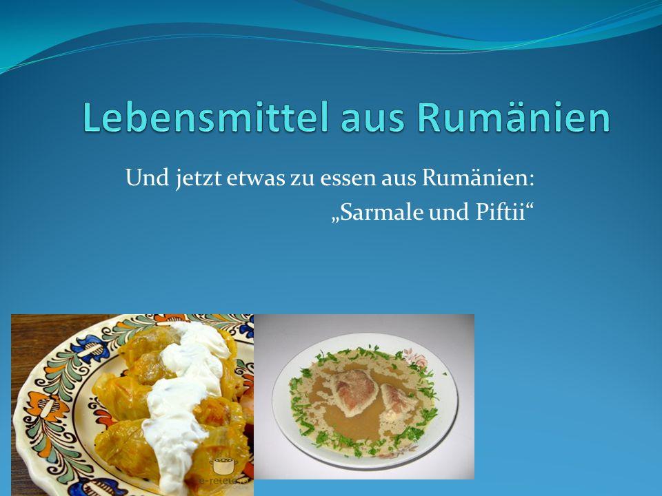 """Und jetzt etwas zu essen aus Rumänien: """"Sarmale und Piftii"""""""
