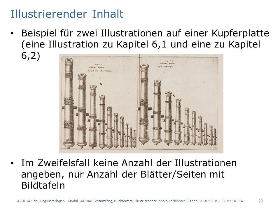 Illustrierender Inhalt Beispiel für zwei Illustrationen auf einer Kupferplatte (eine Illustration zu Kapitel 6,1 und eine zu Kapitel 6,2) Im Zweifelsf