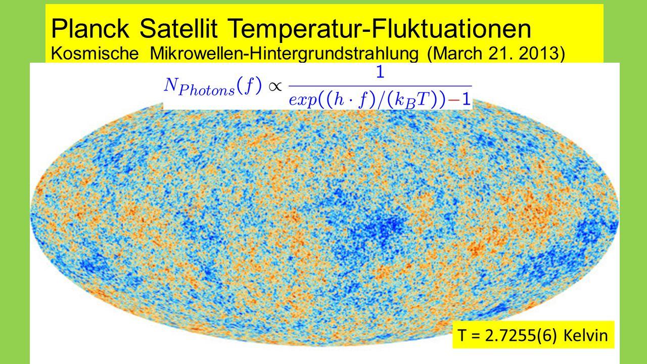 Planck Satellit Temperatur-Fluktuationen Kosmische Mikrowellen-Hintergrundstrahlung (March 21.