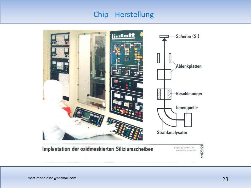 matt.madeleine@hotmail.com Chip - Herstellung 23