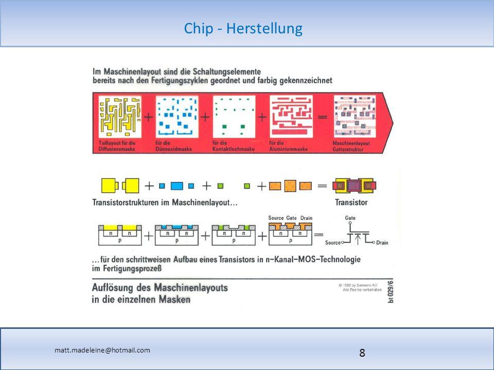 matt.madeleine@hotmail.com Chip - Herstellung 9