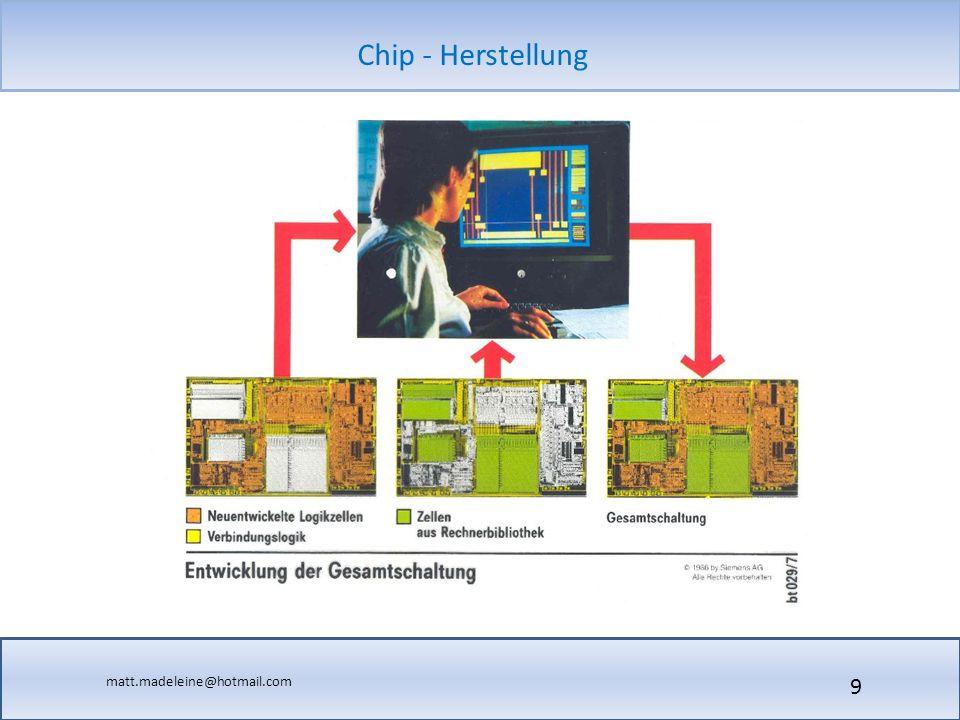 matt.madeleine@hotmail.com Chip - Herstellung 30