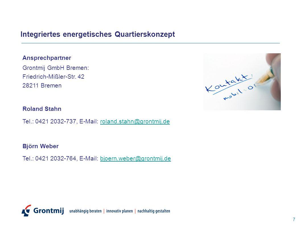 Ansprechpartner Grontmij GmbH Bremen: Friedrich-Mißler-Str.