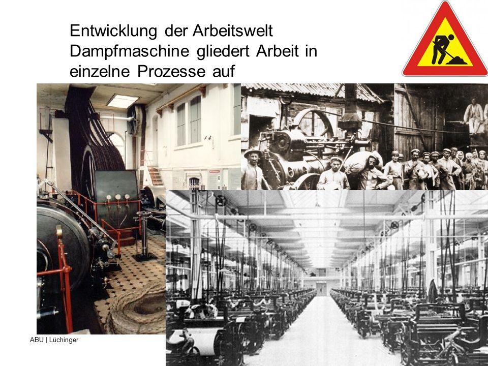 ABU | Lüchinger Beruf- und Weiterbildungszentrum für Gesundheits- und Sozialberufe St.Gallen Entwicklung der Arbeitswelt Fliessbandarbeit