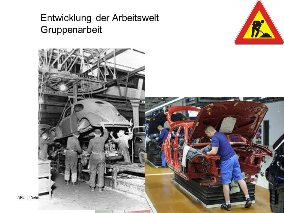 ABU | Lüchinger Beruf- und Weiterbildungszentrum für Gesundheits- und Sozialberufe St.Gallen Entwicklung der Arbeitswelt Gruppenarbeit