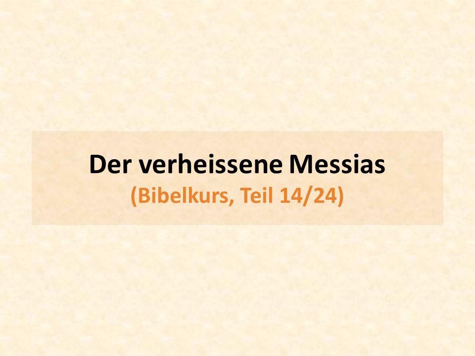 Der verheissene Messias (Bibelkurs, Teil 14/24)