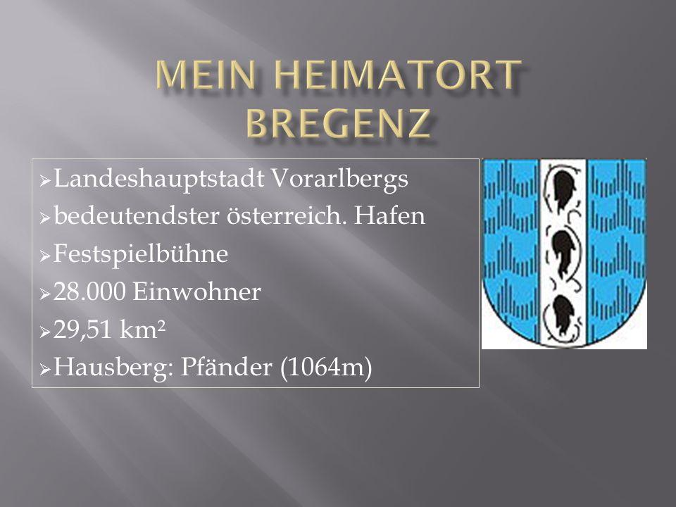  Landeshauptstadt Vorarlbergs  bedeutendster österreich.