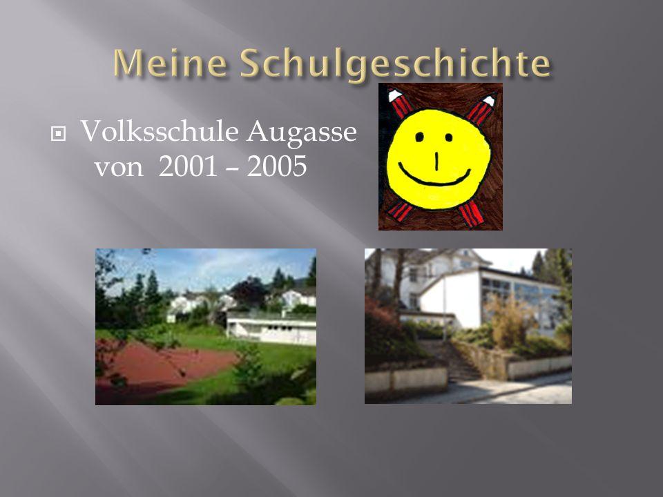  Bundesgymnasium Blumenstraße von 2005 - 2009  HTL Bregenz von 2009 – voraussichtlich 2014