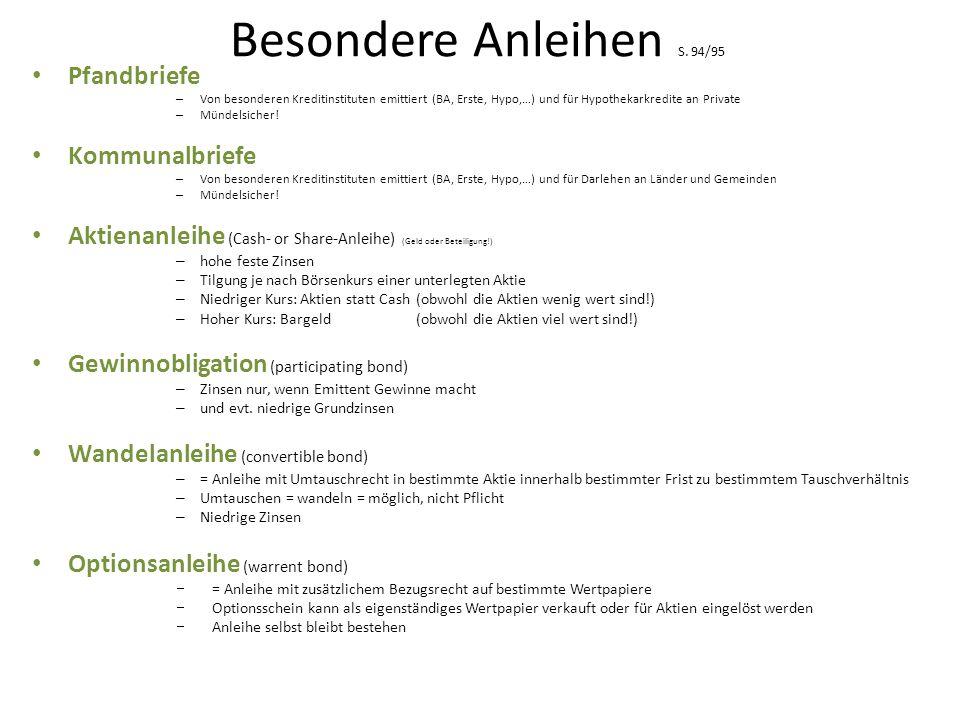 Besondere Anleihen S.