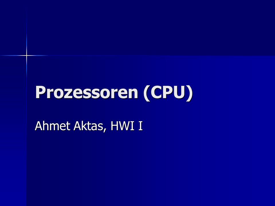 Inhalt Allgemeines zu Prozessoren Allgemeines zu Prozessoren Geschichtliche Entwicklung Geschichtliche Entwicklung Wo befindet sich die CPU Wo befindet sich die CPU Aufgaben eines Prozessors Aufgaben eines Prozessors bekannte Herstellerfirmen bekannte Herstellerfirmen