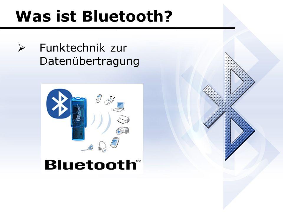 Was ist Bluetooth?  Funktechnik zur Datenübertragung