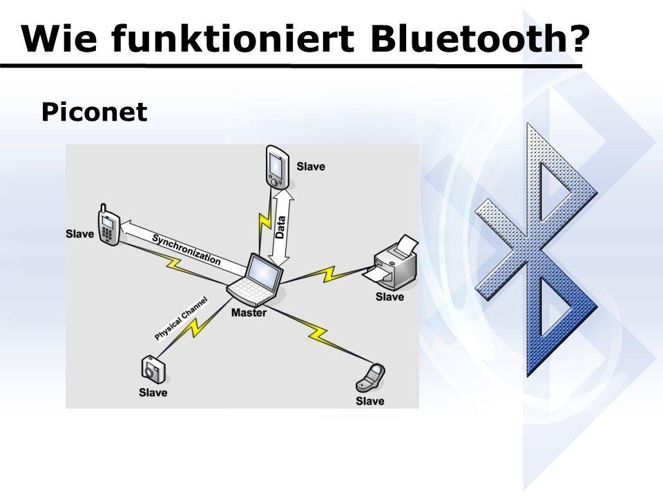 Wie funktioniert Bluetooth? Piconet