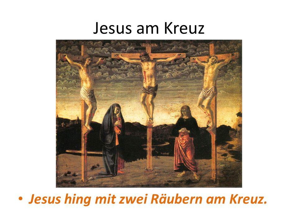 Jesus am Kreuz Jesus hing mit zwei Räubern am Kreuz.