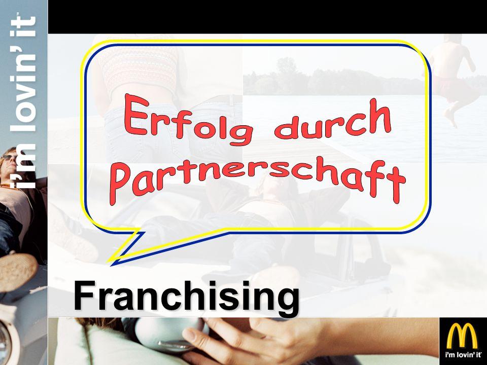 Gebühren Einmalig: Einstiegsgebühr EUR 40.000,- Laufend: 5% Franchisegebühr 12,5% - 22% Pachtgebühr 5% Werbegebühr jeweils vom Umsatz